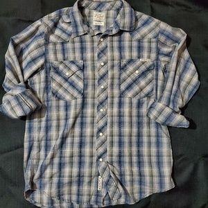 Lucky Brand snap front shirt